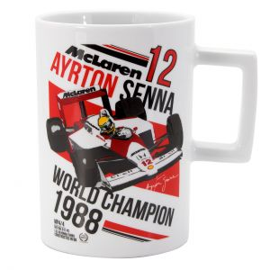 Mug Senna Three Times World Champion McLaren white