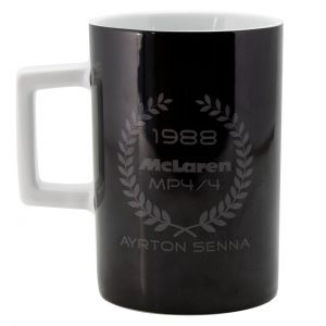 Ayrton Senna Tasse Three Times World Champion