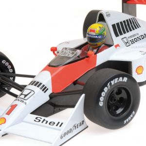 Ayrton Senna McLaren Mp4/5 Minichamps detail view