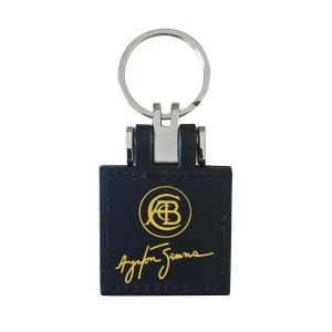 Leather Keyring Lotus