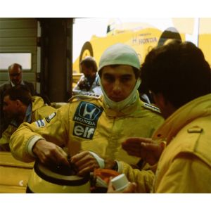 Ayrton Senna Rennanzug 1987 Replika