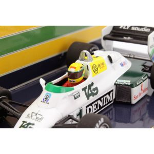 Ayrton Senna Williams Ford FW08C #1 Donington Park Test Formel 1 1983 detail