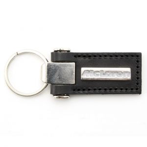 Ayrton Senna Leather Keyring McLaren