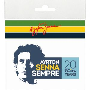Ayrton Senna sticker Sempre 20 Years