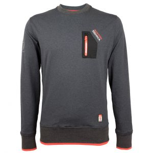 Ayrton Senna Pullover McLaren 3 Times World Champion grey