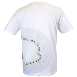 Ayrton Senna T-Shirt Interlagos Tracklines back