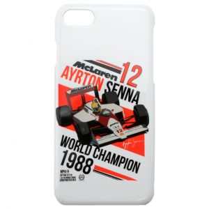 Ayrton Senna Custodia Telefono Casco iPhone 7 Bianca