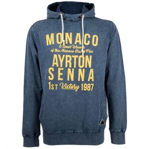 Felpa con cappuccio Ayrton Senna Monaco 1987