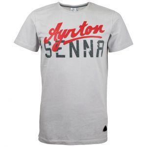 T-Shirt Ayrton-Senna grigia