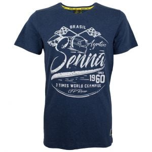 Ayrton Senna T-Shirt 3 Times ChampionAyrton Senna T-Shirt 3 Times Champion
