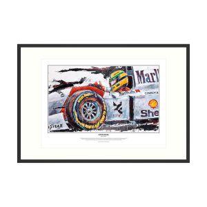 Ayrton Senna impressão de arte McLaren 1993 por Armin Flossdorf