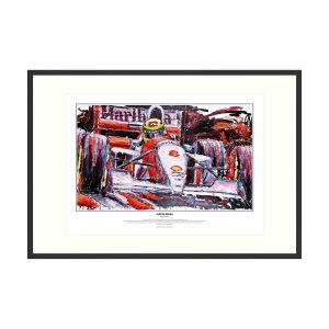 Ayrton Senna в McLaren MP4/8 1993 притн арт