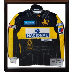 Ayrton Senna Limited Edition Suit 1985 front