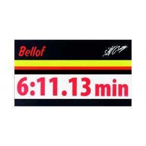 Stefan Bellof Aufkleber rot 120 x 25 mm