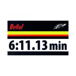 Stefan Bellof Aufkleber schwarz 120 x 25 mm
