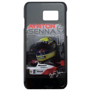 Ayrton Senna Custodia Telefono Casco Galaxy S7 Nera