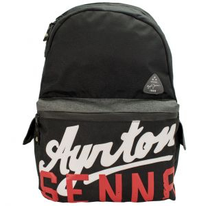 Ayrton Senna Backpack Vintage Black