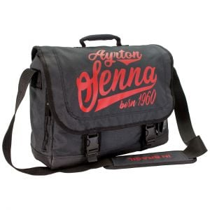 Ayrton Senna Messenger Bag Vintage Dark Grey
