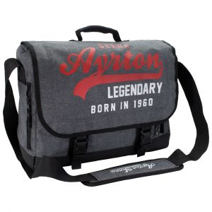 Ayrton Senna Messenger Bag Legendary light grey