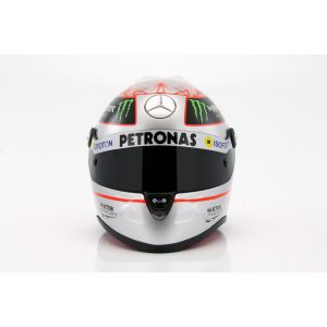 Michael Schumacher Helmet platin 1:2 scale front