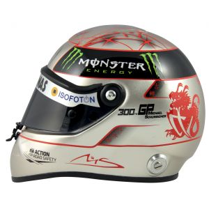 Michael Schumacher Spa 300th GP 2012 platinum helmet 1:2