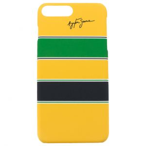 Ayrton Senna Custodia Telefono Casco iPhone 7 Plus