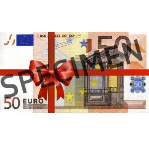 Подарочный купон на 50 Евро