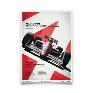 Ayrton Senna Poster McLaren MP4/4