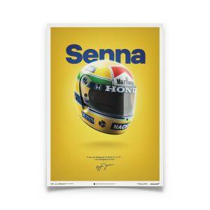 Ayrton Senna Poster Helmet San Marino GP 1988 McLaren MP4/4