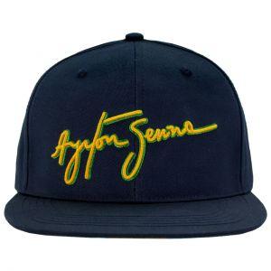 Ayrton Senna Cap Senna Unterschrift Flat Brim