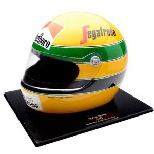 Início na F1 – Réplica do Capacete de Ayrton Senna (1984)