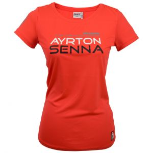 Ayrton Senna T-Shirt Ladies Three Times World Champion McLaren