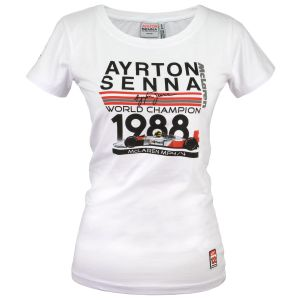 Ayrton Senna Ladies T-Shirt World Champion 1988 McLaren