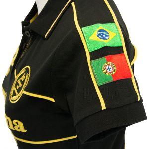 Ayrton Senna Polo-Shirt 1st Victory 1985 detail 2