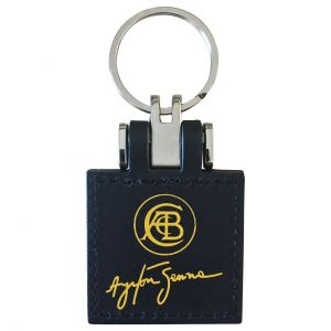 Classic Team Lotus Ayrton Senna Keyring backside