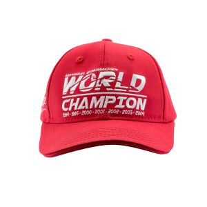 Michael Schumacher Cap Kids World Champion rot
