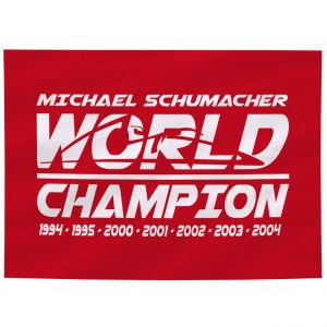 Michael Schumacher Flag World Champion