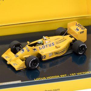 Ayrton Senna Lotus Honda 99T 1a Victoria Mónaco 1987 1/43