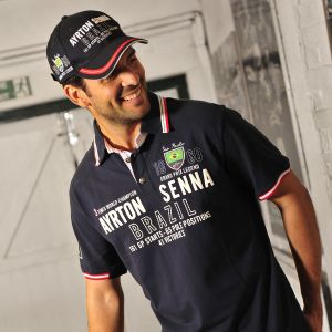 Ayrton Senna Polo-Shirt Brazil 3 times World Champion model