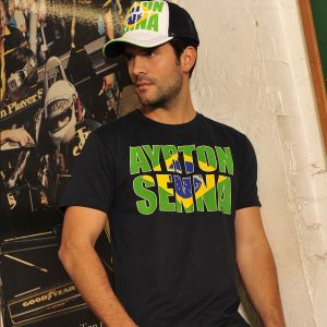 Ayrton Senna T-Shirt Brazil Model