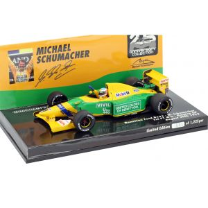 Michael Schumacher Benetton B192 #19 Formel 1 Gewinn Belgien GP 1992 1:43