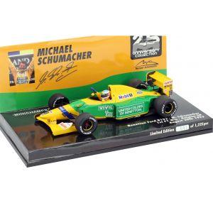 Michael Schumacher Benetton B192 #19 Formel 1 Gewinner Belgien GP 1992 1:43