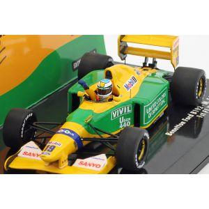 Michael Schumacher Benetton B192 #19 Fórmula 1 Ganador GP Bélgica 1992 1/43