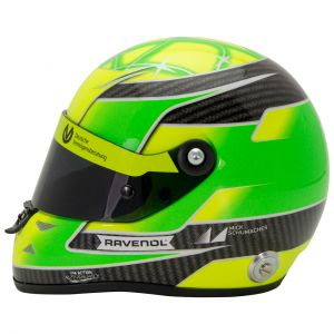 Mick Schumacher Casque miniature Belgique Spa 2018 Champion de Formule 3 1/2