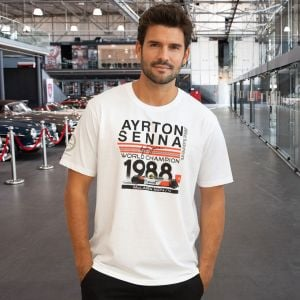 Ayrton Senna T-Shirt World Champion 1988 McLaren