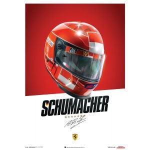 Michael Schumacher - Ferrari F1-2000 - Casco - Cartel