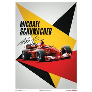 Ferrari F1-2000 - Michael Schumacher - Germania  GP Poster