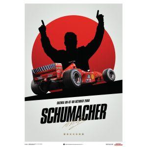 Michael Schumacher - Ferrari F1-2000 - Japan - Suzuka GP - Poster