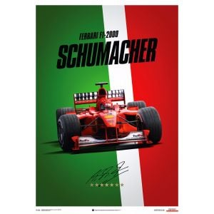 Póster de Michael Schumacher - Ferrari F1-2000 - Italia - Suzuka GP