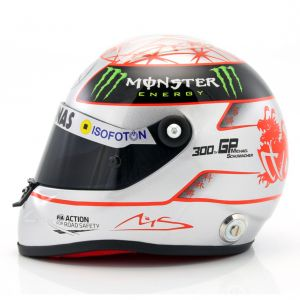 Michael Schumacher Helmet platin 1:2 scale side view